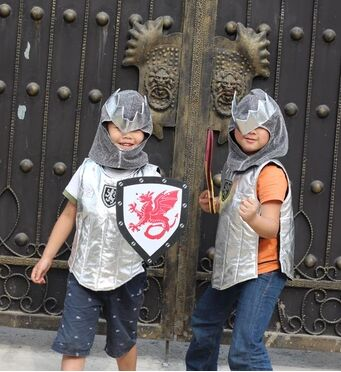 medieval armor cosplay warrior costume for boys birthday gift soldier cosplay for kids funny toy full armor suit