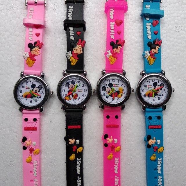 genuino mejor calificado varios diseños nueva productos € 3.59 |De dibujos animados Mickey Minnie Mouse niños de silicona Reloj de  cuarzo Reloj para niños Boy chica navidad regalo niño Reloj de pulsera ...