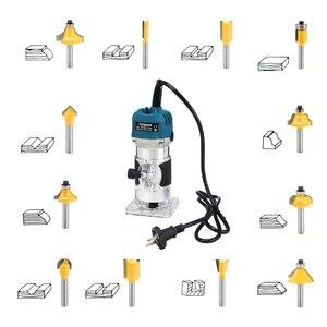 Image 5 - Электрический триммер для деревообработки 220 В 110 В 800 Вт, фрезерный станок для гравировки дерева, ручная машинка для резки дерева