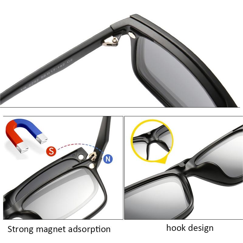TR90 Grampo Em Óculos De Sol dos homens óculos de Sol clip Magnético  mulheres Ímã Clipe óculos de Miopia Óptico Quadro com 5 lente de óculos de  sol 78057ef1d2