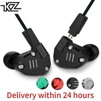 KZ ZS6 2DD + 2BA Hybrid In Ohr Kopfhörer HIFI DJ Monito Laufende Sport Kopfhörer Ohrstöpsel Headset Bluetooth Kabel Set ohrhörer