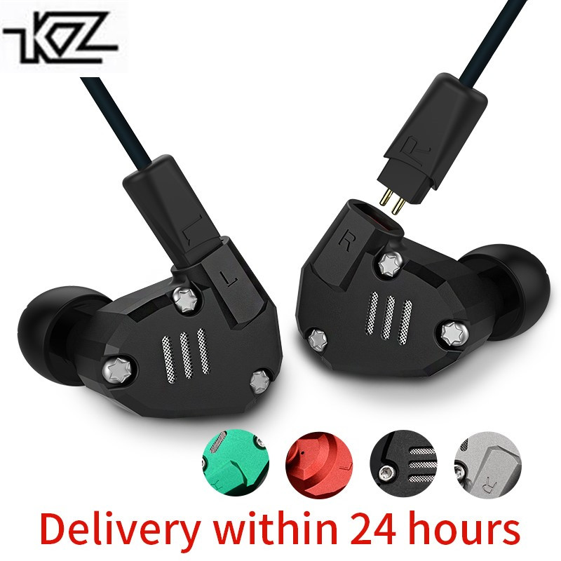 KZ ZS6 2DD + 2BA Hybride Dans L'oreille Écouteurs HIFI DJ Monito de Course Sport Écouteurs Boules Quies Casque Bluetooth Câble Ensemble intra-auriculaires