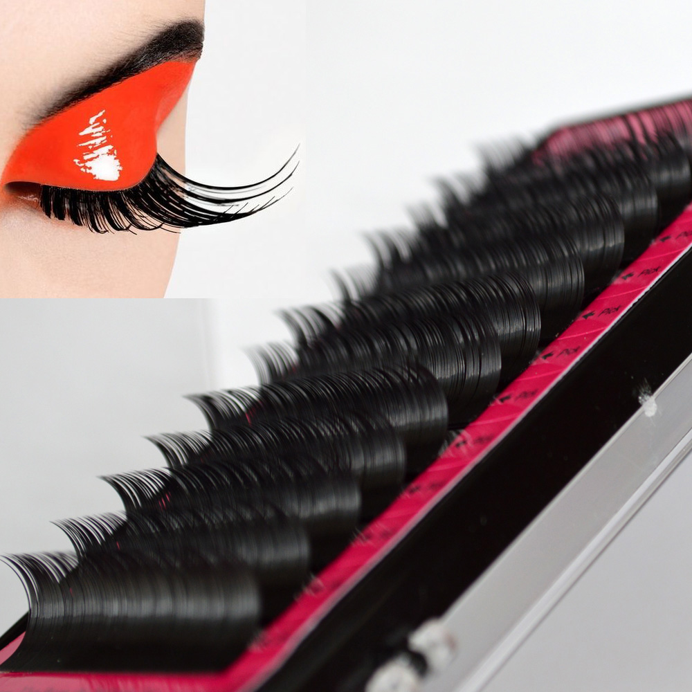 1Case 3D Volume Mink False Eyelashes Sets Lashes Extension ...