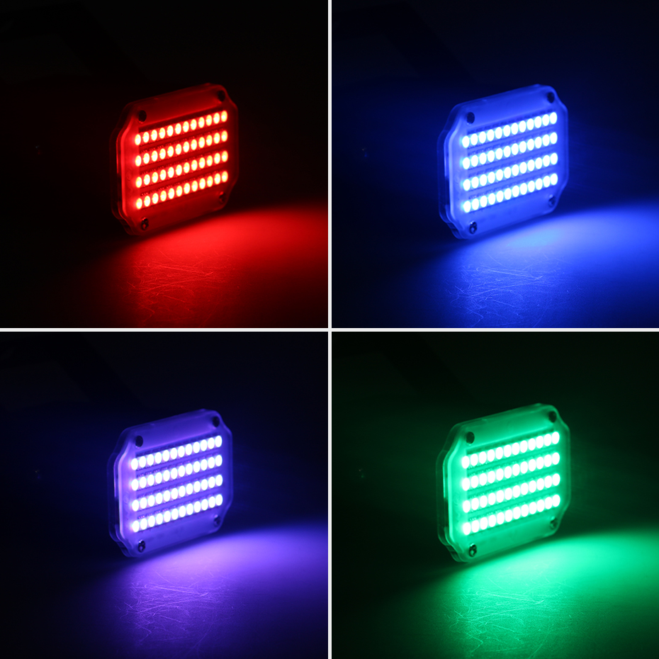 ALIEN 48 LED RGB UV White Strobe Lights Disco DJ Party Holiday Christmas Music Club Sound Activated Flash Stage Lighting Effect 6
