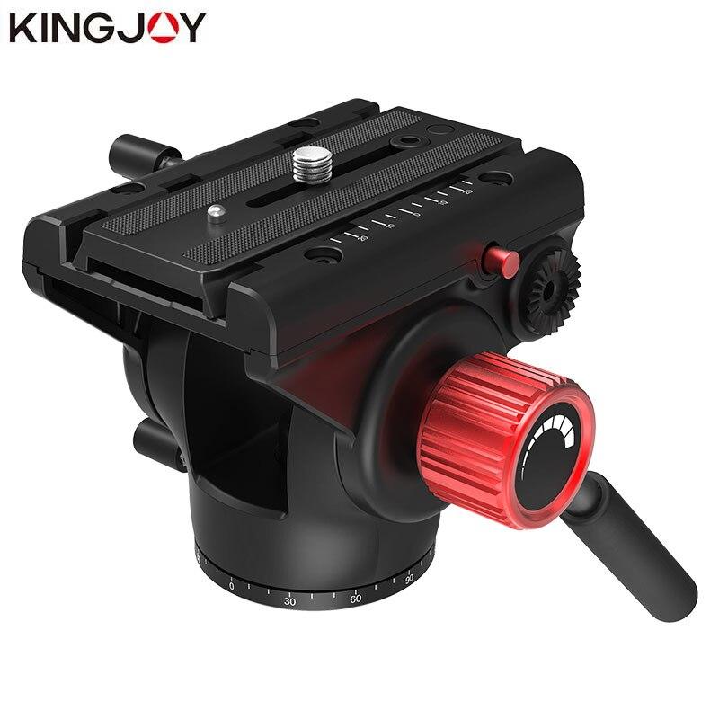 KINGJOY VT-3520 officielle trépied tête hydraulique fluide panoramique vidéo tête pour trépied monopode support de caméra support Mobile SLR DSLR