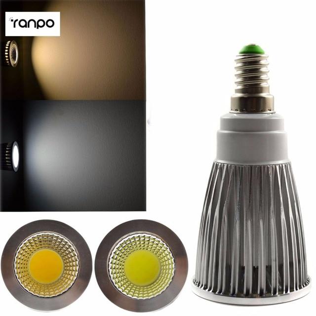 E14 COB Spotlight 6W LED Down Light Lamp Bulb High Power Day/ Warm /Cold White 85-265V Energy Saving Free Shipping
