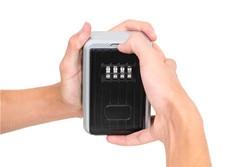 4 kombinacja cyfr hasło bezpieczeństwo pojemnik na klucze kłódka Organizer ścienny domowy ochronny zabezpieczający