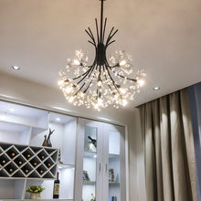 Nordic Style Art Crystal Dandelion Chandelier Warm Romantic Bedroom Dinner Living Room Cafe G4 Led Hanging Light Fixtures(China)