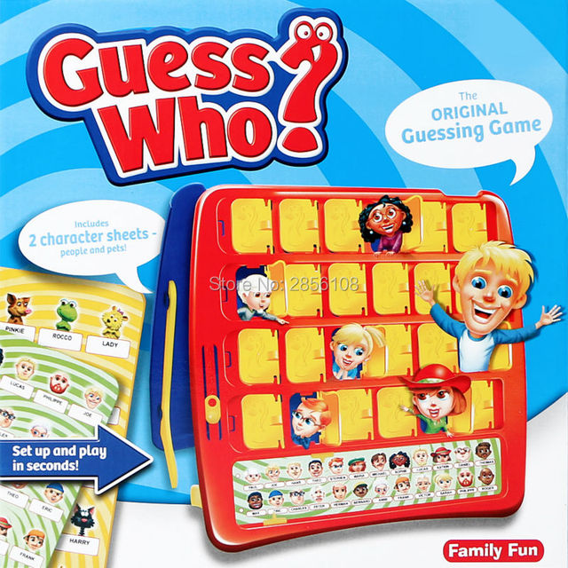 party family fun board guessing game guess who with 2 character