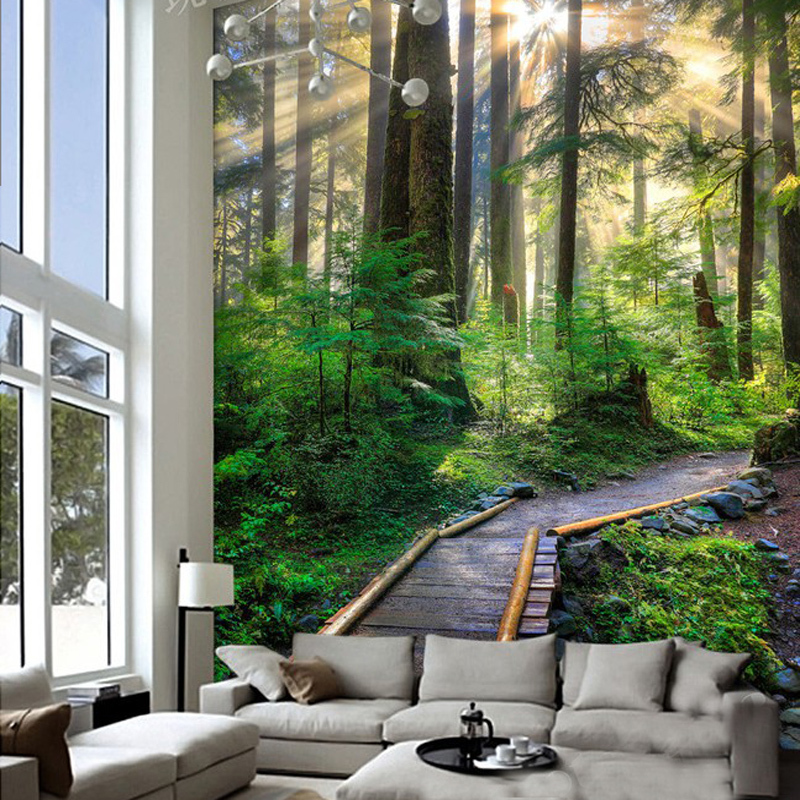 Online Shop Photo Wallpaper 3D Mural Forest Woods Trail Beautiful Backdrop Living Room
