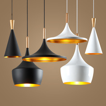 Modern led Conical Pot pendant light Aluminum & Hemp Ropel for home, Industrial lighting hang lamp bar cafe droplight fixture