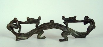 Rare Old Qing Dynasty copper pen rack\penholder,Exquisite carving,best collection&adornment,free shipping
