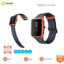 [Английская версия] Xiaomi Amazfit Bip смарт часы Huami gps ГЛОНАСС Smartwatch IP68 сердечного ритма 45 дней в режиме ожидания для android iOS
