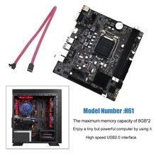 Профессиональный H61 настольный компьютер Материнская плата 1155 контактный CPU обновления интерфейса USB2.0 DDR3 1600/1333