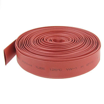 11mm Dia. Heat Shrinkable Tube Shrink Tubing 10M 32.9ft Red retardant heat shrink tubing shrinkable tube diameter cables 120 roll sale