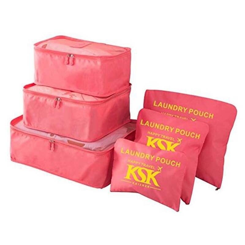 6Pcs/set New Packing Cube Travel Bag Men And Women Storage Luggage Large Capacity Of Bags Unisex Clothing Sorting Organize Bag