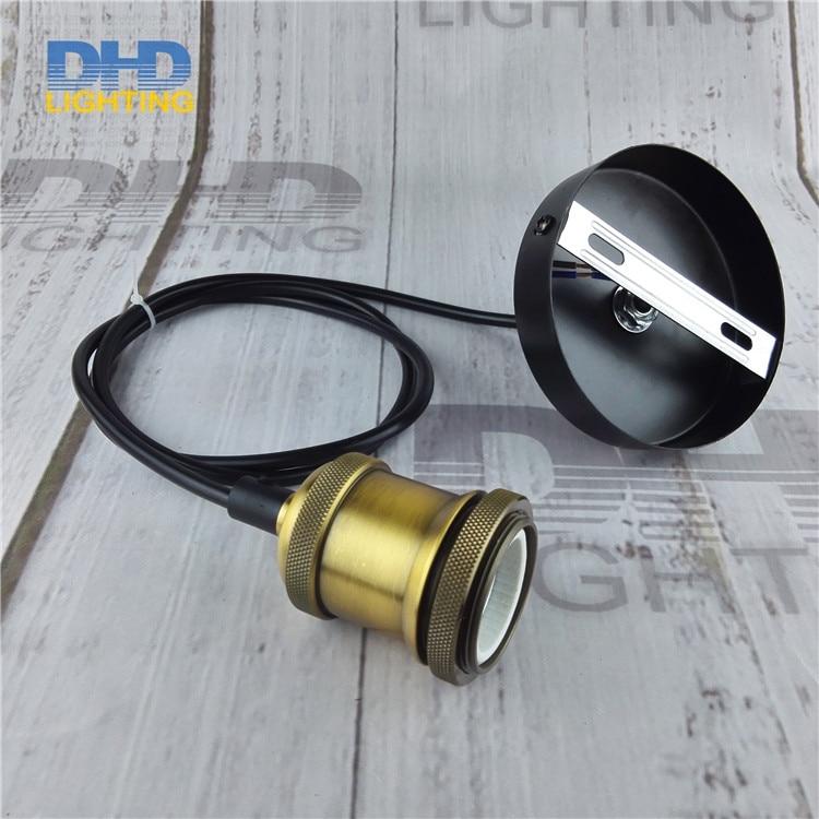 Matt brass Vintage Rustic E27 aluminum Edison Pendant lamp lights Retro no shade hanging lampe Fixture Industrial DIY lighting