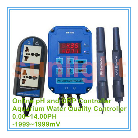 Aquarium Online pH and ORP Controller with 3 50 10 50PH and 500 500mV Controlling Range