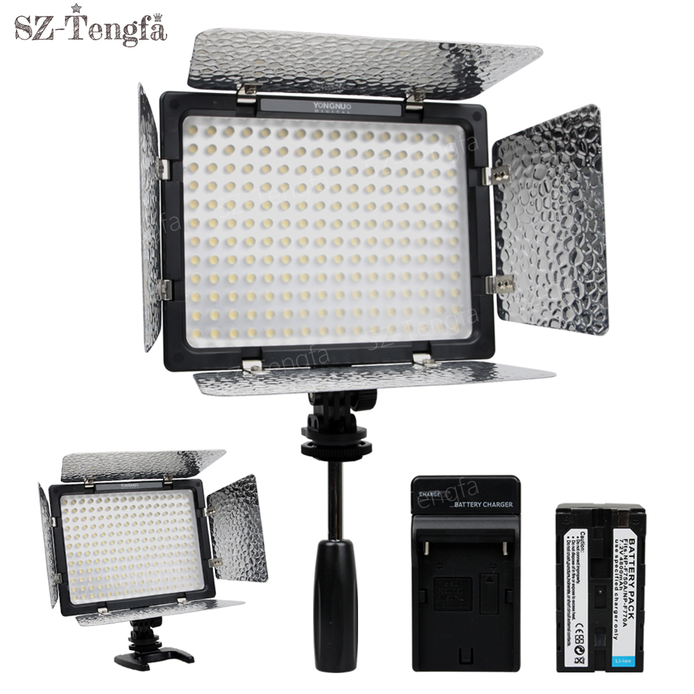 bilder für Yongnuo YN160 III 5500 Karat Led-videoleuchte + F750 batterie kit für kamera DV canon nikon