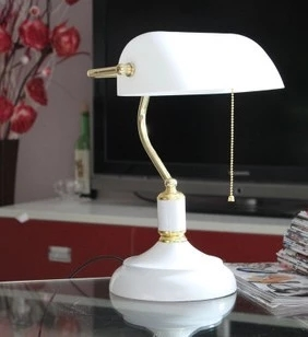 ФОТО Modern European study white table lamp retro bedroom desk lamp home decorative light fixture lamp