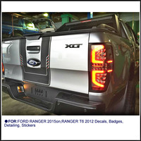 custom for ford ranger stickers 1PC PICKUP car two tone back door insert graphic Vinyls accessories modified decorate decals