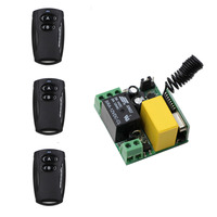 4PCS AC 220V 10A Relay 1CH Wireless RF Remote Control Switch 3 Transmitter 1 Receiver 315