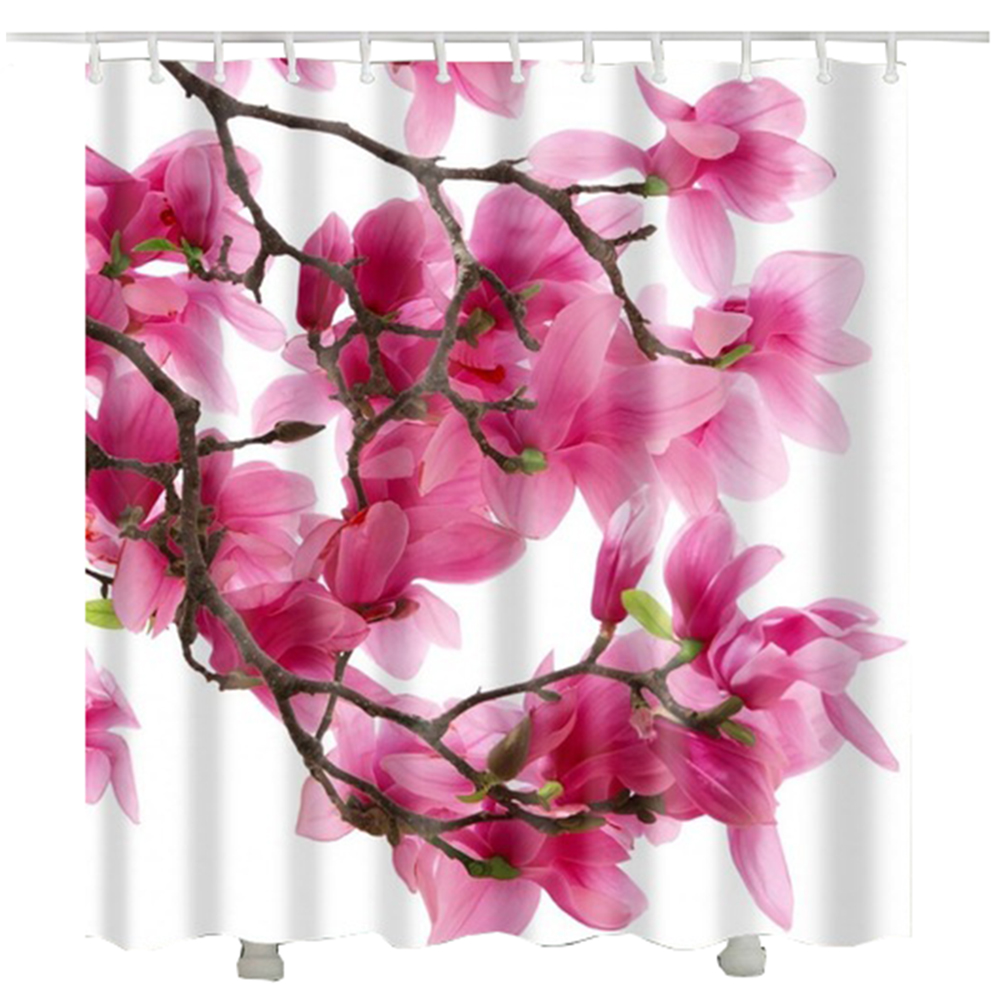 Floral Tree Against the Sunny Sky Shower Curtain Waterproof Fabric Bath Curtains