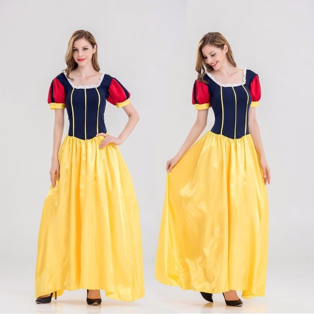 CFYH 2018 New Women Adult Queen Costume Adult Snow White Custom Made  Halloween Costume Plus Size XL 3462f3f1dd10