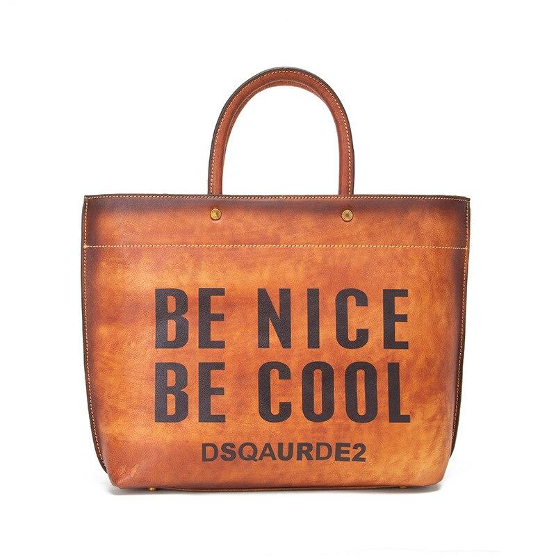 Bagaj ve Çantalar'ten Üstten Saplı Çanta'de Yeni Marka Lüks Kadın Hakiki deri çantalar Bayanlar Retro Zarif Omuz askılı çanta Inek Deri El Yapımı Bayan Çanta'da  Grup 1