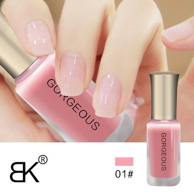 Бренд BK телесного цвета серии полупрозрачные Лаки для ногтей как желе лак для ногтей 12 Цветов продолжительный эмаль Краски 10 мл