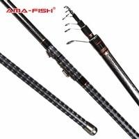 AMA FISH 100 Brand New Rock Fishing Rod Lure Carbon Fiber Pole Telescopic Fishing Rods 4