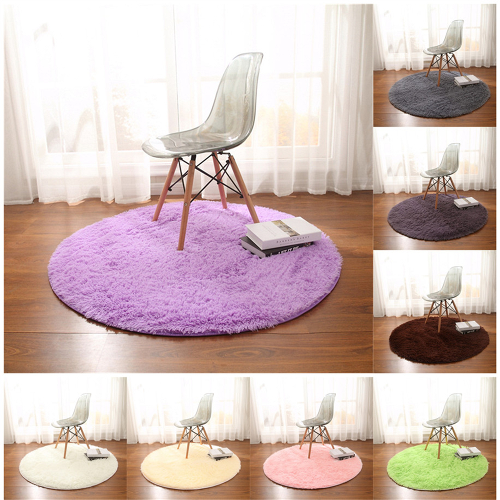 Etonnant PanlongHome Round Fitness Yoga Hanging Basket Computer Chair Cushion Cute  Bedside Living Room Bedroom Floor Long Hair Carpet In Carpet From Home U0026  Garden On ...
