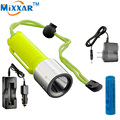 zk30 Underwater 60M CREE Q5 2000LM LED Diving flashlight Waterproof dive diver Flashlight Lamp Torch lantern Use 1x18650 battery