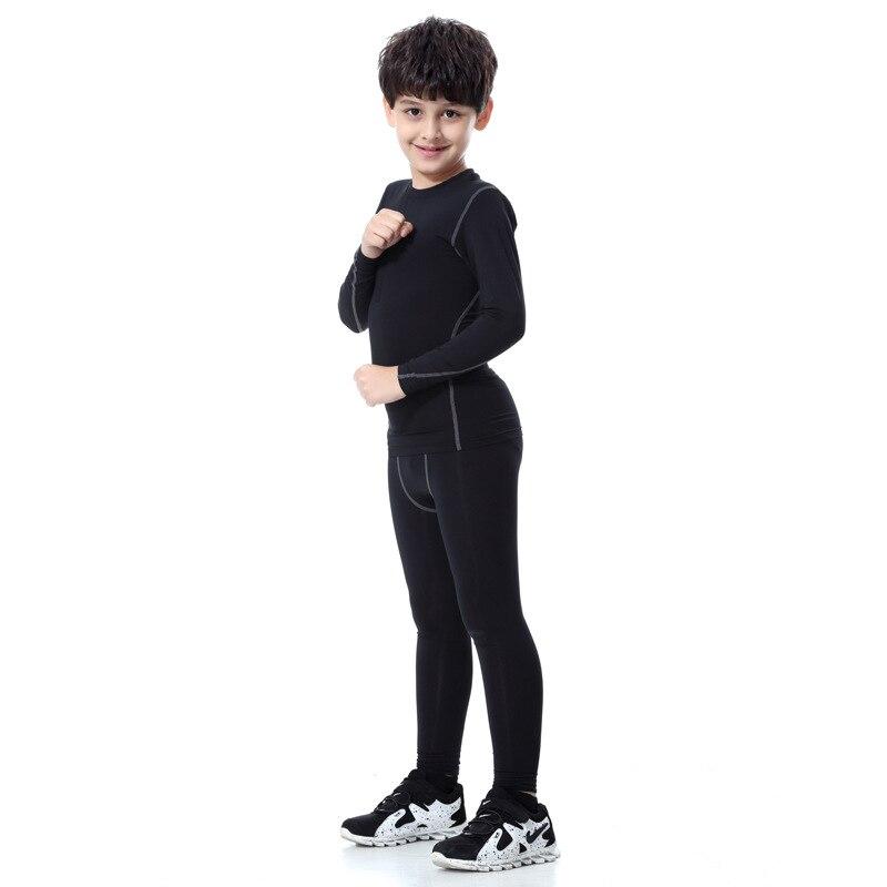 Long Sleeve Kids Boys Compression Running Sets Sports Shirts Pants