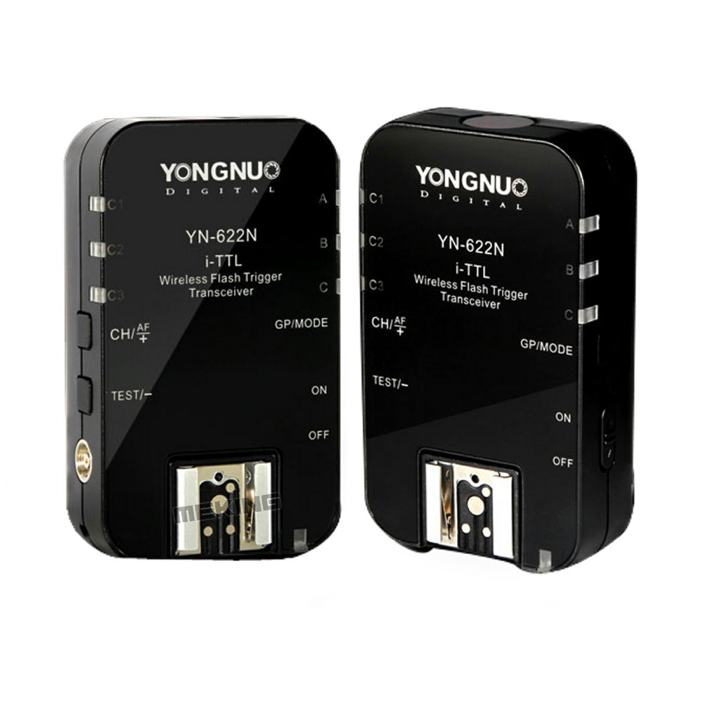 2pcs Yongnuo YN622N Wireless iTTL Flash Trigger YN622 Radio 1/8000s for Nikon D7100 D7000 D5200 D5100 D5000 D3200 D3100 D3000 yn e3 rt ttl radio trigger speedlite transmitter as st e3 rt for canon 600ex rt new arrival