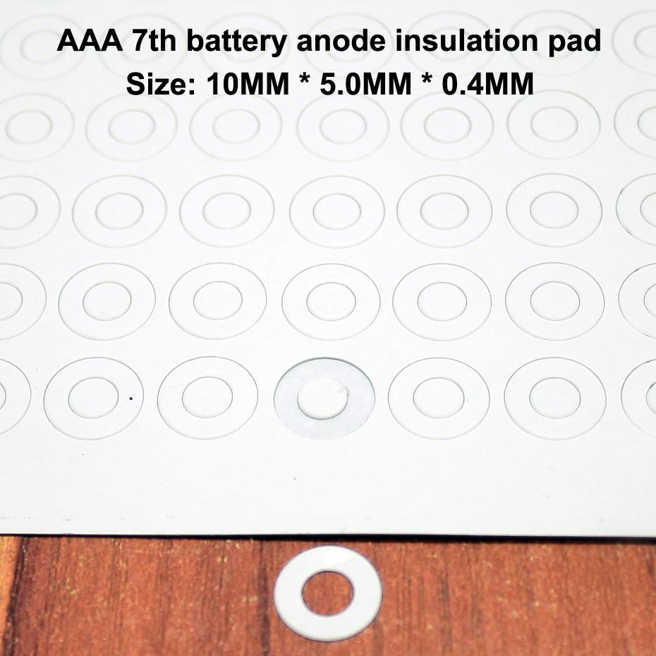 100 pçs/lote AAA 7 bateria de lítio ânodo méson junta de isolamento pad papel de ponta oca Paquistanês isolamento rápido