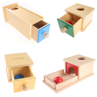 Todders Montessori Kids Toy Baby Wooden Coin Box Piggy Bank Learning Educational Preschool Training Brinquedos Juguets