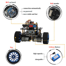 For Arduino Balance Robot Cars APP RC Remote Control Ultrasonic Robotics Learning Kit Educational Stem Toys for Children Kids