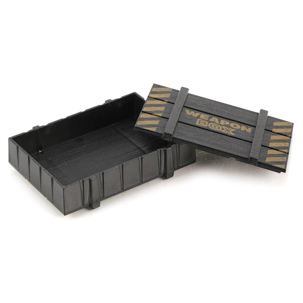 RC Rock Crawler 1:10 accesorios de decoración arma de plástico caja para Axial SCX10 Tamiya CC01 Traxxas TRX-4 D90 D110 RC Coche modelo de camión