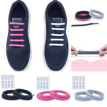 Quick Wear Lazy Shoelace With Lock Elastic Band Buckle Tie-free Casual 88CM Black Red Sport Fast