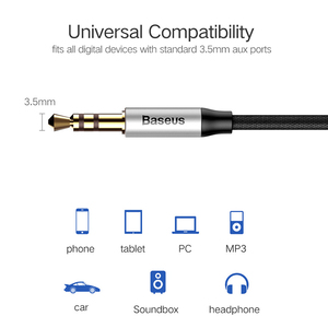 Image 2 - Baseus auxケーブルvention aux 3.5ミリメートルジャックオーディオケーブルiphone 6 xiaomi redmi 5 4x oneplus 5t MP3プレーヤー