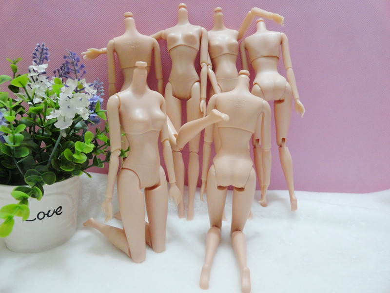 AILAIKI Toy NEW Arrival Top Quality All-Joint Rotational Plastic Doll Bodies Naked Body Without Head For Barbies 1/6 Dolls DIY