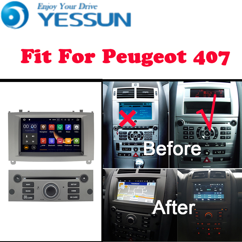 все цены на YESSUN For Peugeot 407 2004~2010 Android Multimedia Player System Car Radio Stereo GPS Navigation Audio Video онлайн