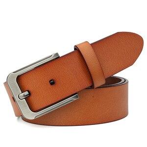 Image 3 - Catelles Mens Genuine Leather Belt Male Belts Buckle for Men Designer Belts High Quality Leather Belt/Strap Man Pin Buckle 1935