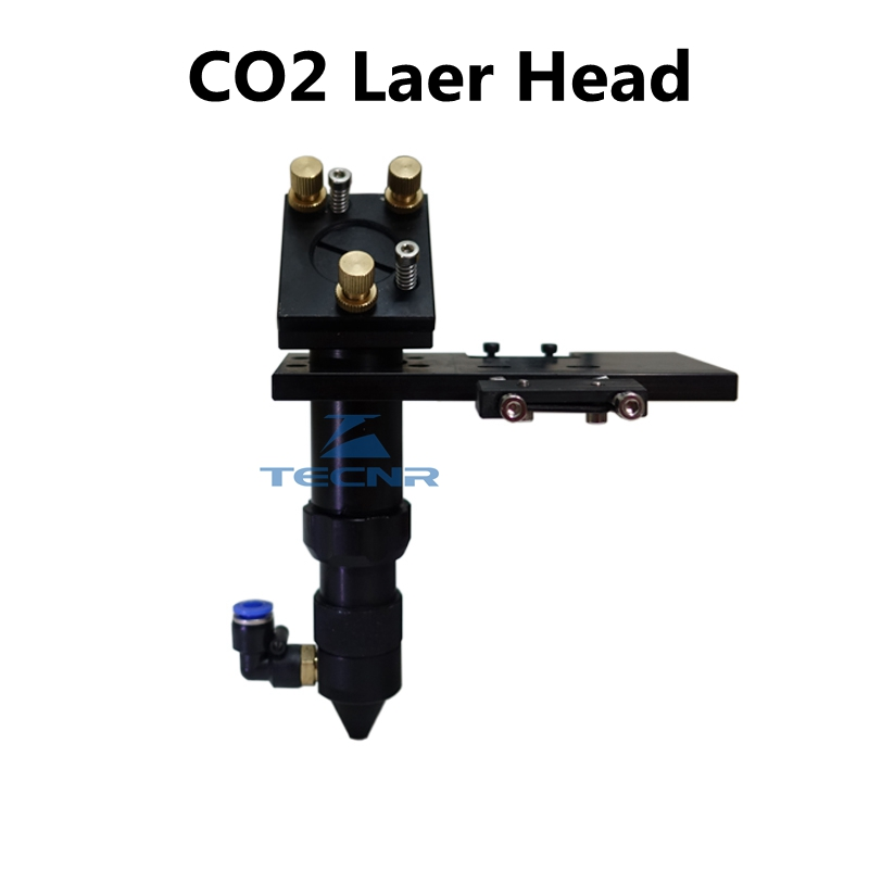 CO2 laser head & Reflective Mirror 25mm & Focus Focal Lens 20mm Integrative Mount for laser machine