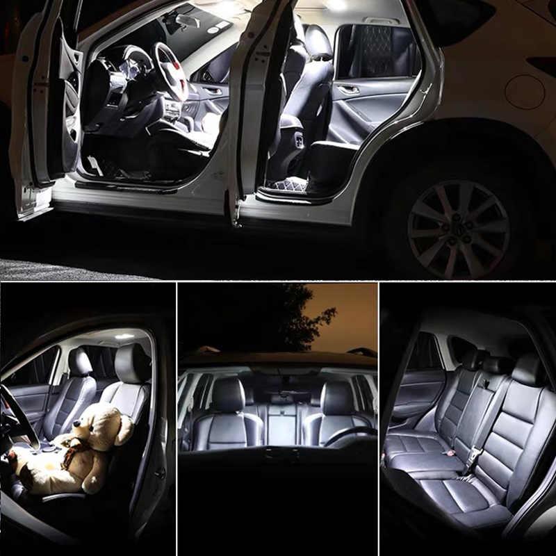 27pcs LED 번호판 빛 + 미러 램프 + 내부 돔지도 전구 키트 VW Touareg 7P 7P5 7P6 (2010 +)