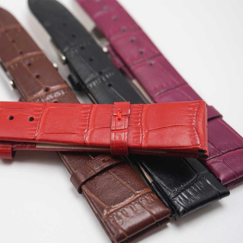 Verdadeiro couro pulseiras de relógio pulseiras 12 14 16 18 20 22mm 2020 novo slub padrão pulseira para mulher 20mm 18mm relogio masculino