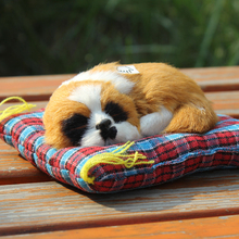 Kids Birthday Return Gift Hairy Realistic Sleeping Dog Toy With Sound