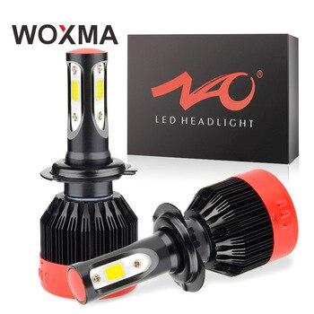 H4 светодио дный H7 H11 H8 фар автомобиля лампа 12 В мотоцикл 9005 9006 HB3 HB4 H9 H1 H27 880 881 72 Вт 6000 К белый авто фары WOXMA