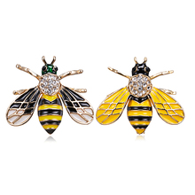 Rinhoo Enamel Bee Brooches Unisex Insect Brooch Pin Women and Men Jewelry Cute Small Badges Fashion Wholesale Price